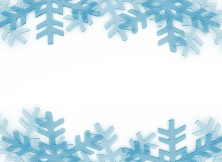 Snow flakes frame