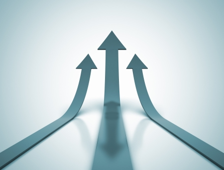 upward graph: Rising arrows  Stock Photo