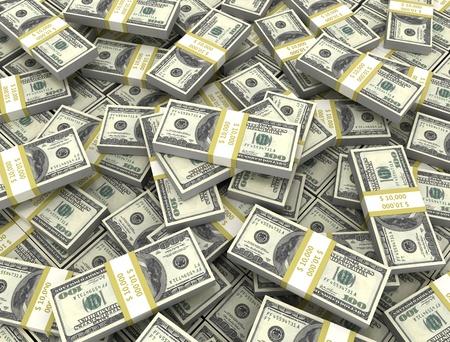 Money background large group of bundles  Reklamní fotografie