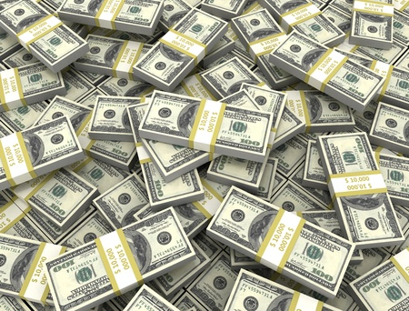 heap up: Money background large group of bundles  Stock Photo