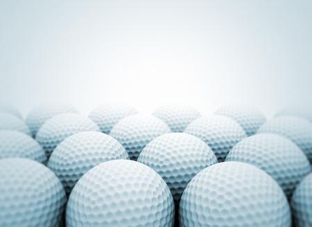 pelota de golf: Grupo de pelotas de golf cerca Foto de archivo