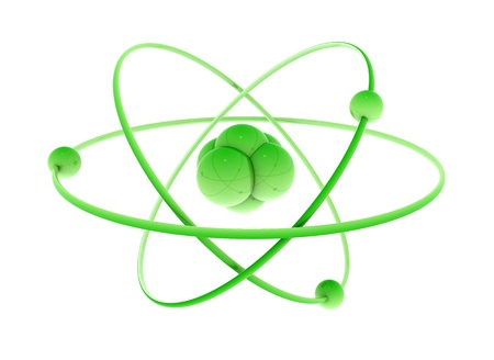 Isolated atom green energy concept photo