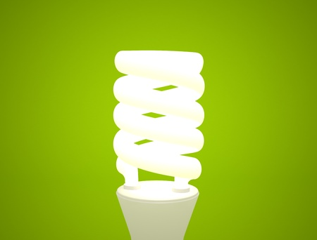 Lighr bulb modern on green background photo