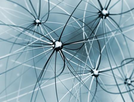 sistema nervioso: Las células del cerebro abstracta 3d