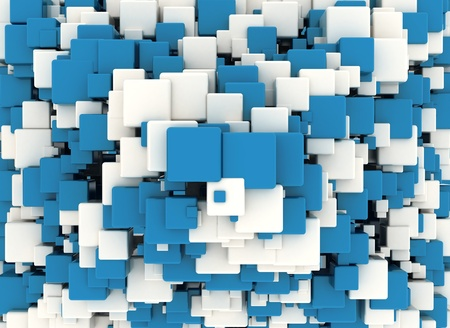 Abstract blue cubes background  photo