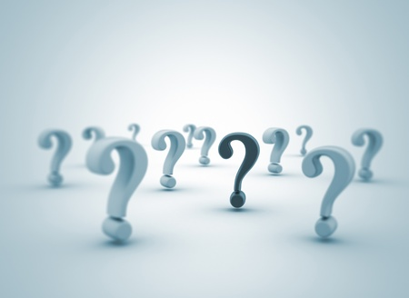 Question marks 3d background