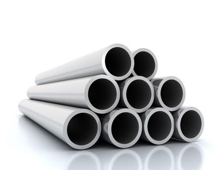 Steel pipes  Reklamní fotografie