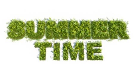 Summer time grass text photo