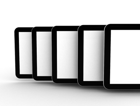 Row of tablet pc photo