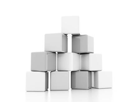 building block silver white  photo