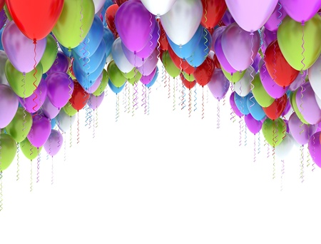 anniversary backgrounds: Balloons isolated on white