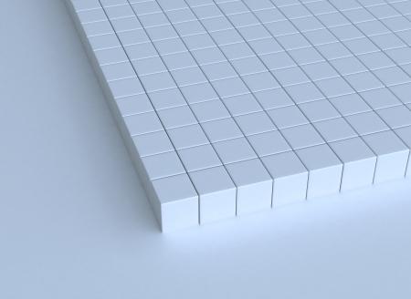 3d cubes buildt structure  photo