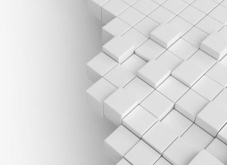 Abstracte 3d kubussen achtergrond Stockfoto