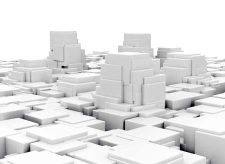 Abstract 3d cubes design background photo