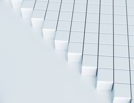 crowded space: 3d cubes - building abstract