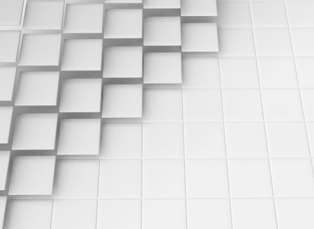 3D Abstract blank squares background Stock Photo