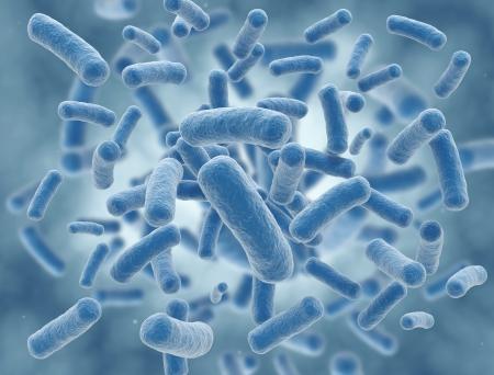 bacterias: Células azules de virus ilustración de alta resolución de la ciencia