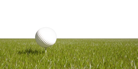 gass: Golf ball and green gass isolated background