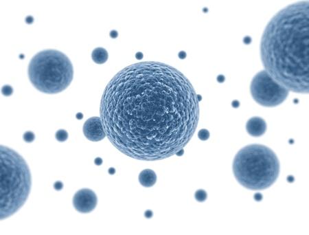 microbiologia: Las células bacterianas aisladas sobre fondo blanco