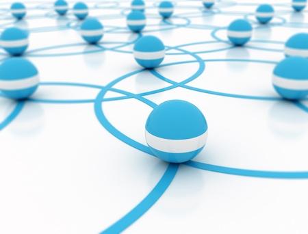 Network 3d illustration3d render Standard-Bild