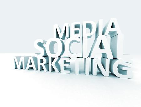 public relations: Social media marketing 3d text