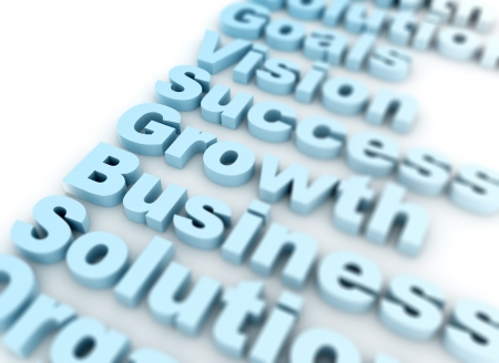 Busines growth 3D Text photo