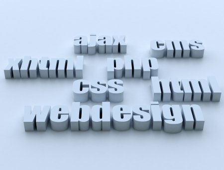 Web design technology Stock Photo - 14109803