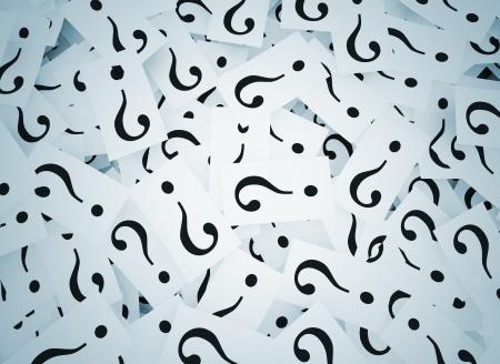 kwis: Vraagtekens op noten Stockfoto