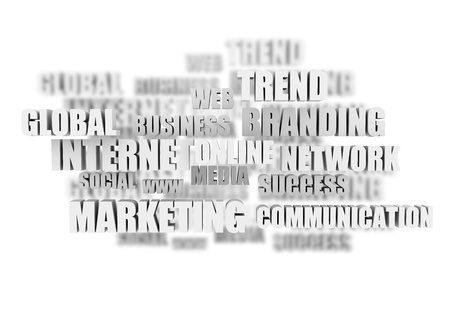 buzz: On line marketing related words  Stock Photo