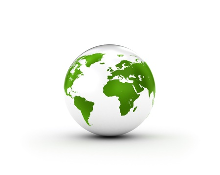 Shiny White World Globe