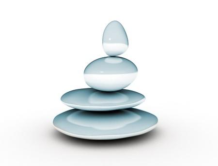 mente humana: Zen piedras concepto de balance Foto de archivo