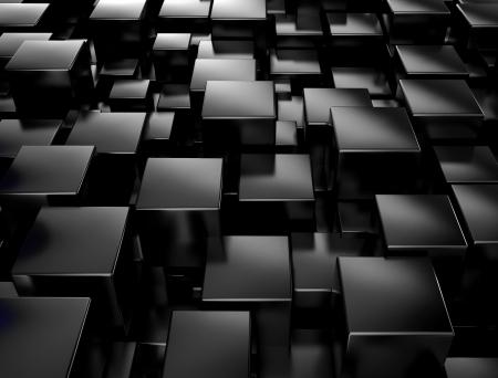 Black metallic cubes background