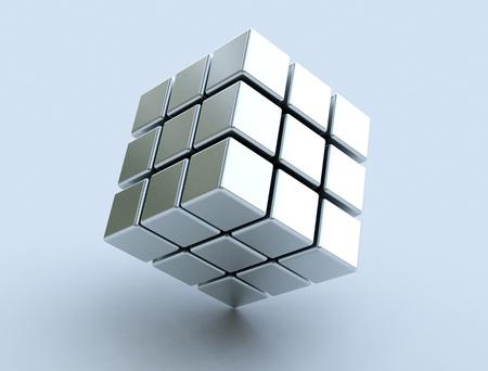 cubo: Cubo 3d Foto de archivo