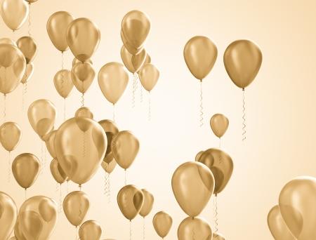 Party ballonnen achtergrond