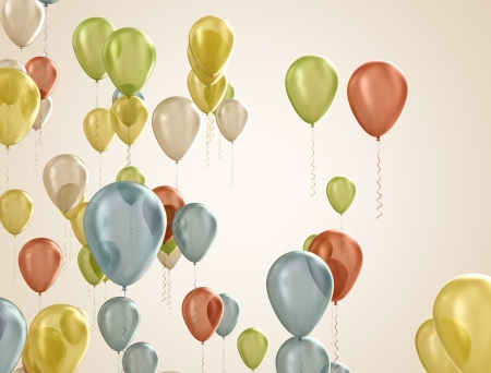 multicolored balloons  Stock Photo - 18429671