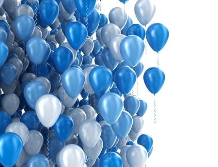 globos de cumpleaños: Globos aislados en blanco Foto de archivo