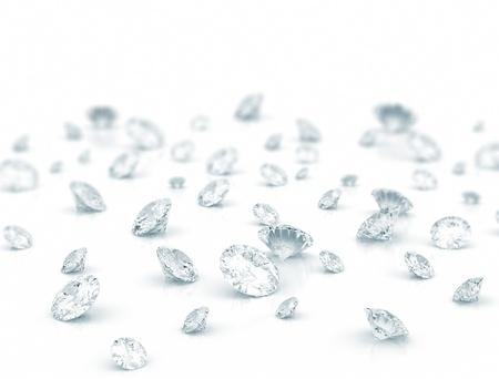 Grote groep van diamanten