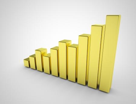 golde: Golde business graph Stock Photo