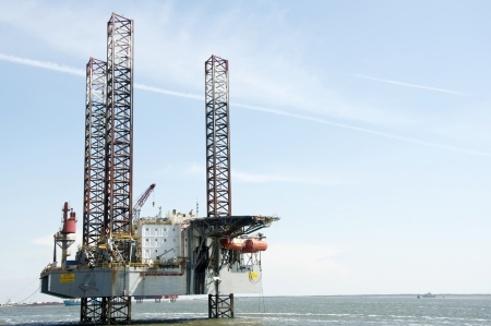 oilrig: offshore oil rig Stock Photo