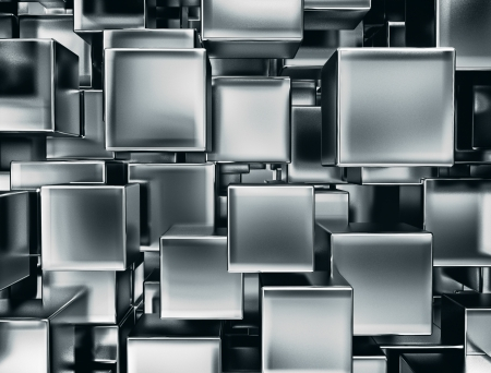 abstract image of metal cubes background Banco de Imagens - 18429701