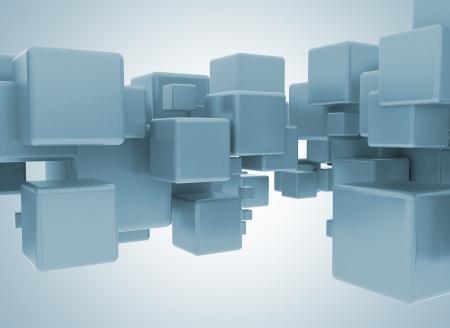 building blocks business: 3d cubes  Stock Photo