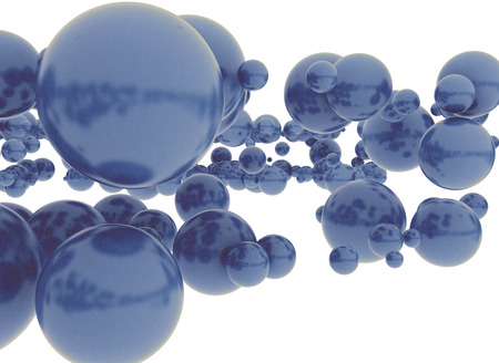 symbole chimique: Blue 3d sphères