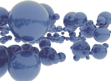 Blue 3d spheres  photo