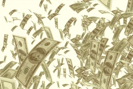 Het winnen van de jackpot Us dollar achtergrond