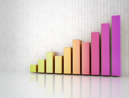 bargraph: Colourful business graph going up