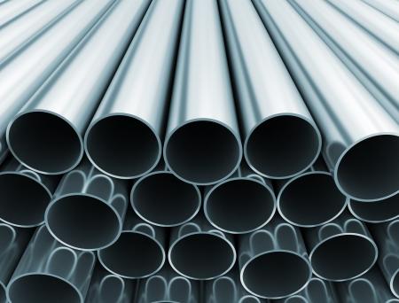 Metal tubes close up  写真素材
