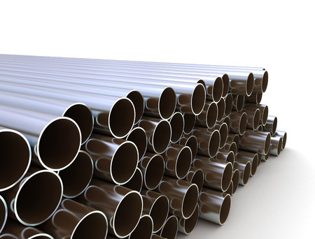 water pipes: Large group of metal tubes