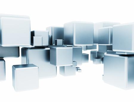 Metall 3d cubes Standard-Bild - 22931183