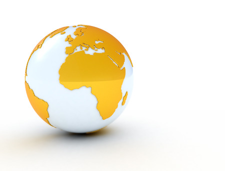 international news: World globe yellow  LArge reolution Stock Photo
