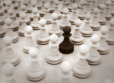 volunteer point: Standing out from the crowd chess pieces